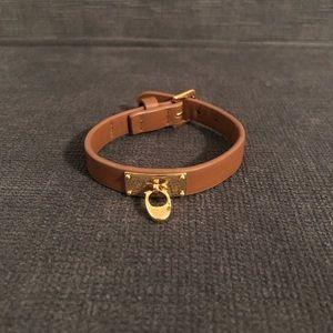 Coach signature leather bracelet
